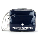 핍스(PEEPS) [핍스] PEEPS retro 80 enamel cross bag(navy)
