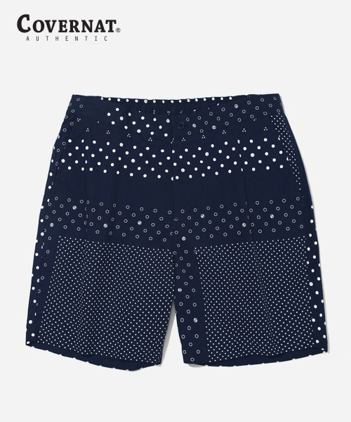 커버낫(COVERNAT) S/S COTTON BANDANA SHORTS NAVY