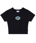 아파트먼트() (W) Oring Crop T - Black