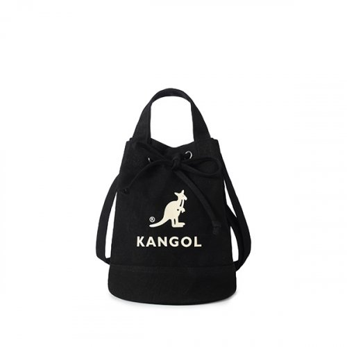 캉골(KANGOL) Alice Canvas Bucket Bag 3738 BLACK