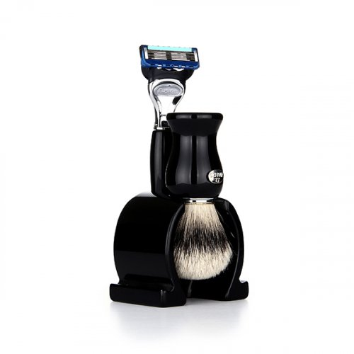 오메가브러쉬(OMEGABRUSH) shaving brush SET F6613.17 (Silver Tip)