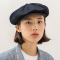 Rugged fabric newsboy cap [NAVY]