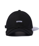 그루브라임() STRING PEAK BALL CAP (BLACK) [GCA015G13BK]