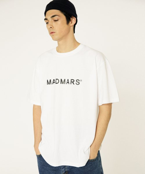 매드마르스(MADMARS) BASIC LOGO T-SHIRTS_WHITE
