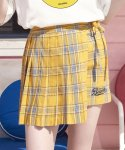 로라로라(ROLAROLA) (SK-18302)PLEATS CHECKED SKIRT YELLOW
