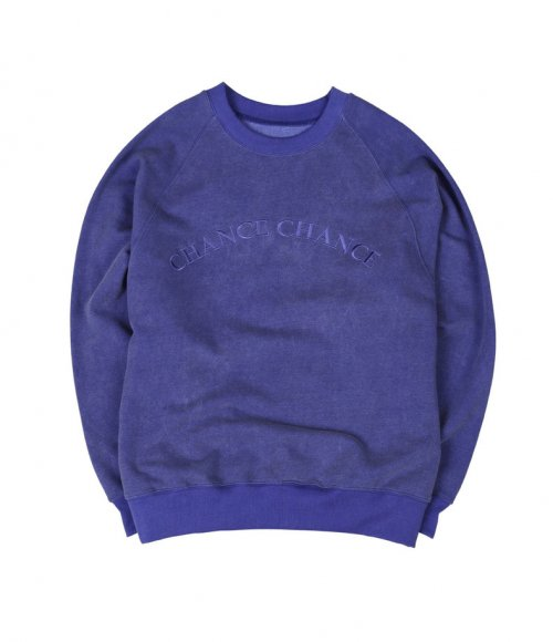 챈스챈스(CHANCECHANCE) Logo Raglan MTM(Blue)/기모없음