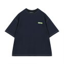오디너리피플(ORDINARY PEOPLE) [Unisex] ORDINARY STITCH POINT NAVY T-SHIRT