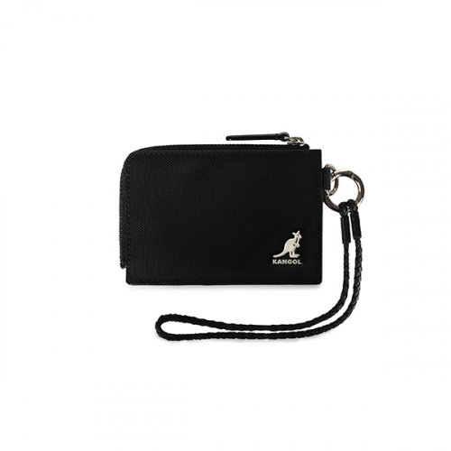 캉골(KANGOL) Black Card Holder Wide 4007 BLACK