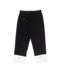 돈애스크마이플랜(DAMP) NEEDLEPOINT TURN UP PANTS_BLACK