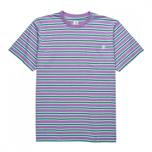 폴라(POLAR) Striped Pocket Tee - Voilet/Mint
