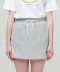 PIPING MINI SKIRT GREY