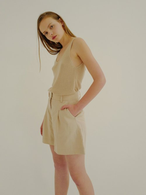 로지에(ROSIER) 18ss high waist short pants beige