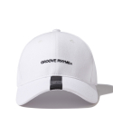 그루브라임() TAPE PEAK BALL CAP (WHITE) [GCA026G13WH]