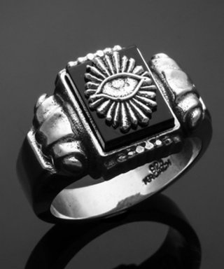 킹크로치(KING KROACH) ALL SEEING EYE PILLAR STONE RING
