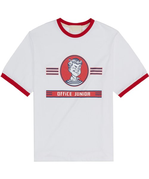 버닝(BURNING) Junior Ringer 1/2 T-shirt (Red)