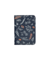 BOTANICAL PASSPORT CASE_Navy garden