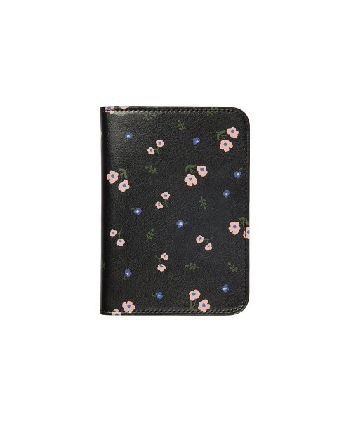 위크에이드(WEEKADE) BOTANICAL PASSPORT CASE_Black flower