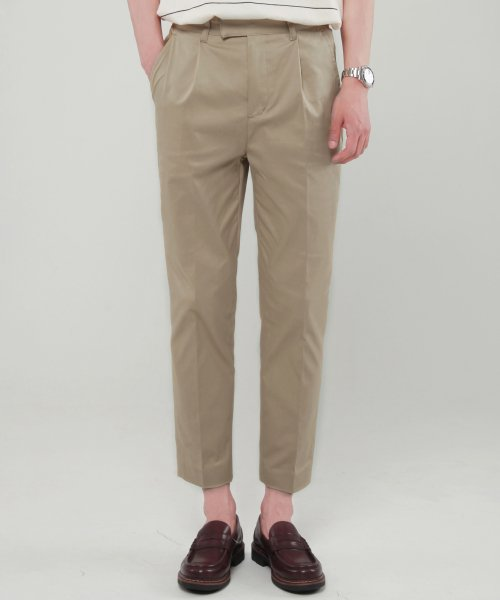 모디파이드(MODIFIED) M#1631 daily stretch cotton regular slacks (beige)