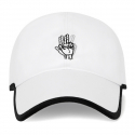 바이브레이트(VIBRATE) ROUND PATCH HAND LOGO BALL CAP (WHITE)