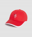 바이브레이트() ROUND PATCH HAND LOGO BALL CAP (RED)