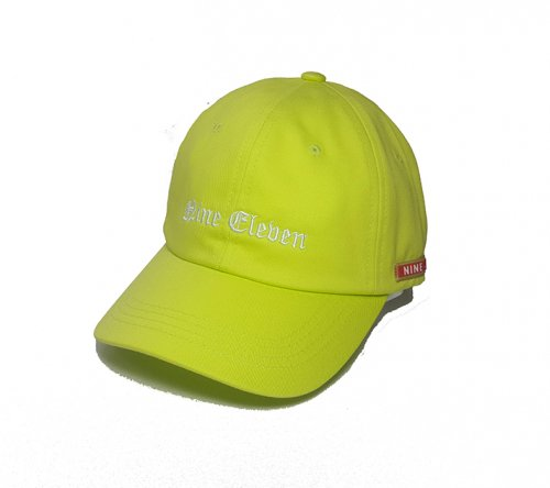 나인일레븐(NINE ELEVEN) NE old english ball cap - lime