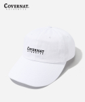 커버낫(COVERNAT) AUTHENTIC LOGO CURVE CAP WHITE