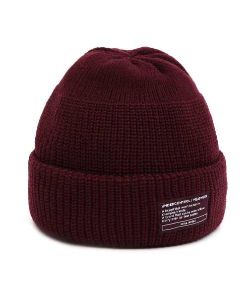 언더컨트롤(UNDERCONTROL) BEANIE / MONK FIT / WINE