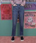 로라로라() (PT-18741) UNBALANCE CUTTING DENIM PANTS BLUE