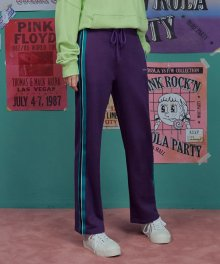 (PT-18515) SIDE TAPE PANTS PURPLE