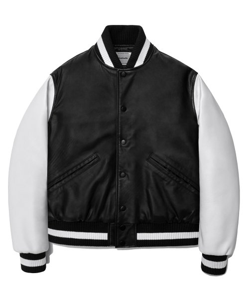 비바스튜디오(VIVASTUDIO) LEATHER STADIUM JACKET HA [BLACK]
