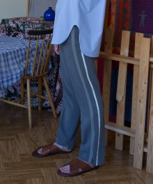 Side Double Stripe Trousers / Grey