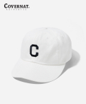 커버낫(COVERNAT) EMBROIDERY C LOGO B.B CAP OFF WHITE