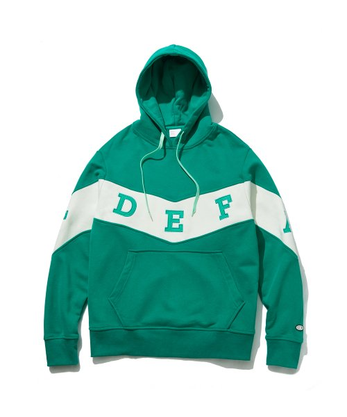 디폴트(DEFAULT) ZIGZAG LINE POINT HOOD(MINT)