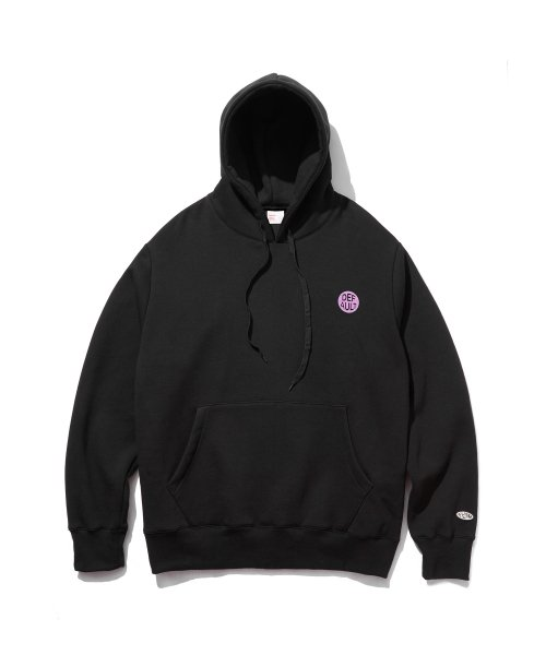 디폴트(DEFAULT) CIRCLE PRINTING LOGO HOOD(BLACK)