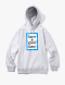 Blue Frame Pullover Hoodie - Heather Grey