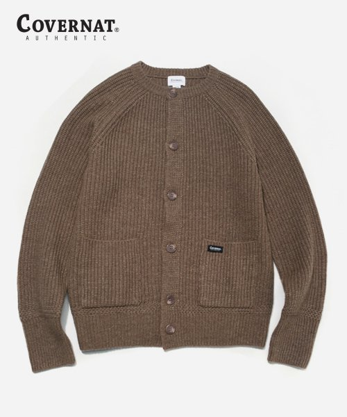 커버낫(COVERNAT) HEAVY GAUGE CARDIGAN BEIGE