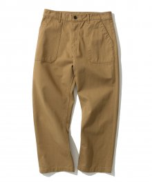 cotton fatigue pants L brown