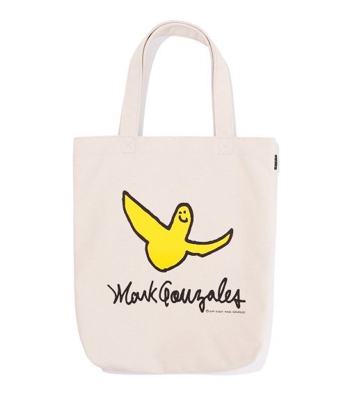 마크 곤잘레스(MARK GONZALES) ANGEL  LOGO ECO BAG IVORY