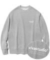 LOCATION LOGO CREWNECK IS [MELANGE]