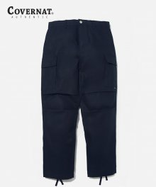 COTTON TWILL CARGO PANTS NAVY