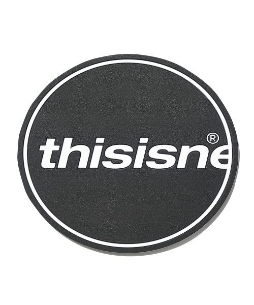 디스이즈네버댓(THISISNEVERTHAT) C-Logo Coaster Black 1Set(2Pcs)