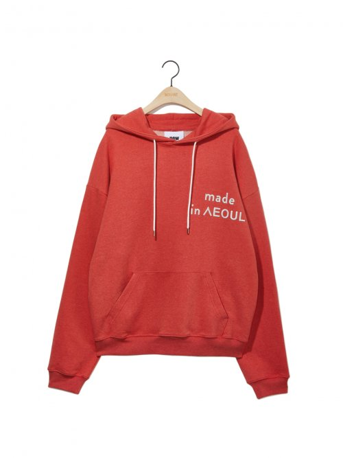 노앙(NOHANT) MADE IN SEOUL HOODIE ORANGE