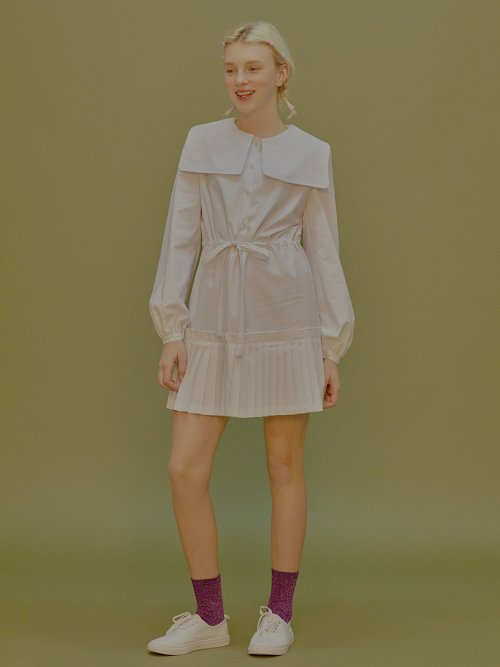 마가린핑거스(MARGARIN FINGERS) Pleats shirt dress
