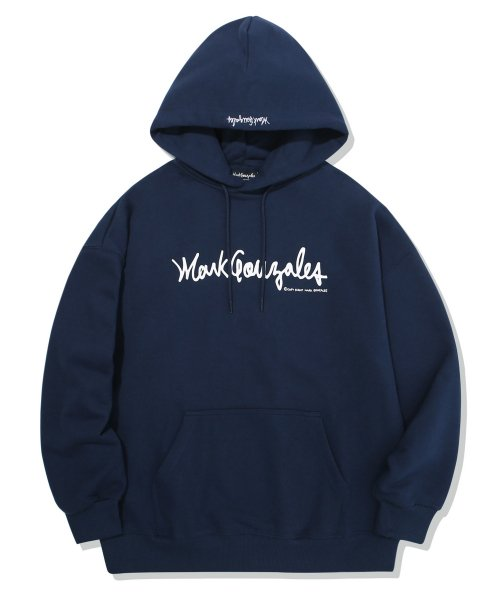 마크 곤잘레스(MARK GONZALES) M/G SIGN LOGO HOODIE NAVY