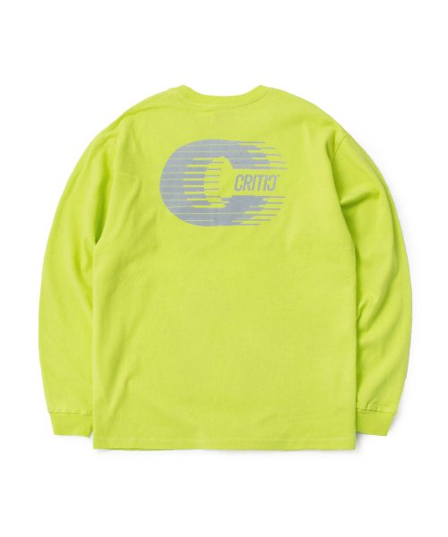 크리틱(CRITIC) REFLECTIVE C LONG SLEEVE T-SHIRT(NEON YELLOW)_CTOGARL05UY3