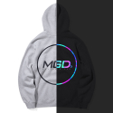 마하그리드(MAHAGRID) RAINBOW REFLECTIVE CIRCLE HOODIE GREY(MG1JSMM411A)