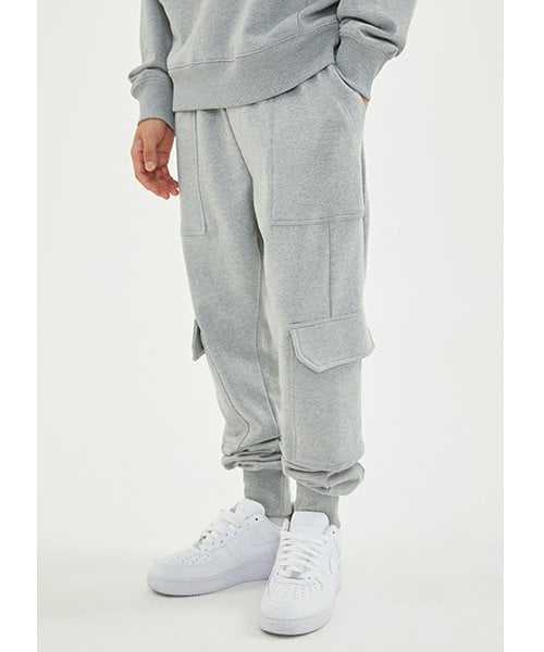 로맨틱 파이어리츠(ROMANTICPIRATES) CARGO JOGGER SWEAT PANT(GRAY)