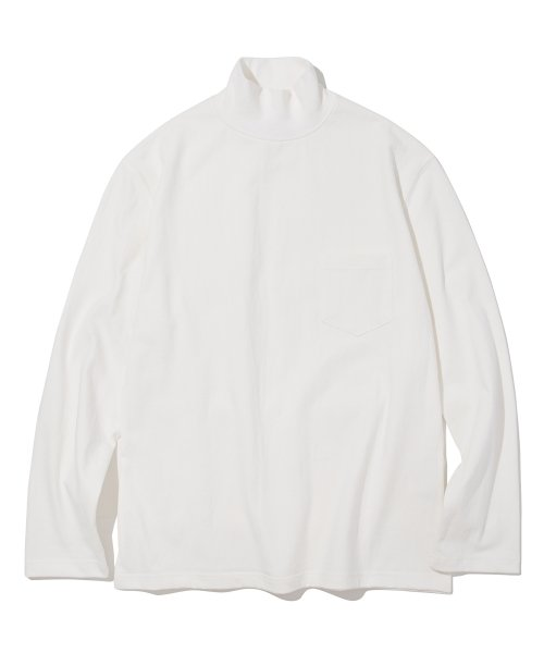 유니폼브릿지(UNIFORM BRIDGE) 18fw mock neck L/S tee off white