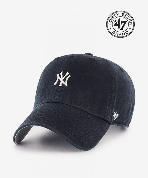 47브랜드(47 BRAND) NY Small Logo Base Runner 47 CLEAN UP Navy