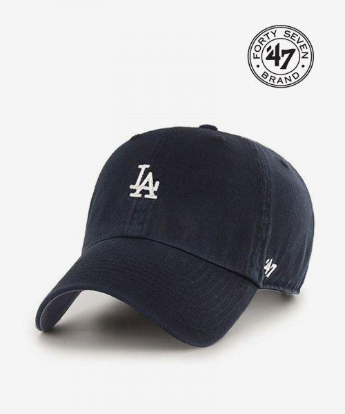 47브랜드(47 BRAND) LA Small Logo Base Runner 47 CLEAN UP Navy